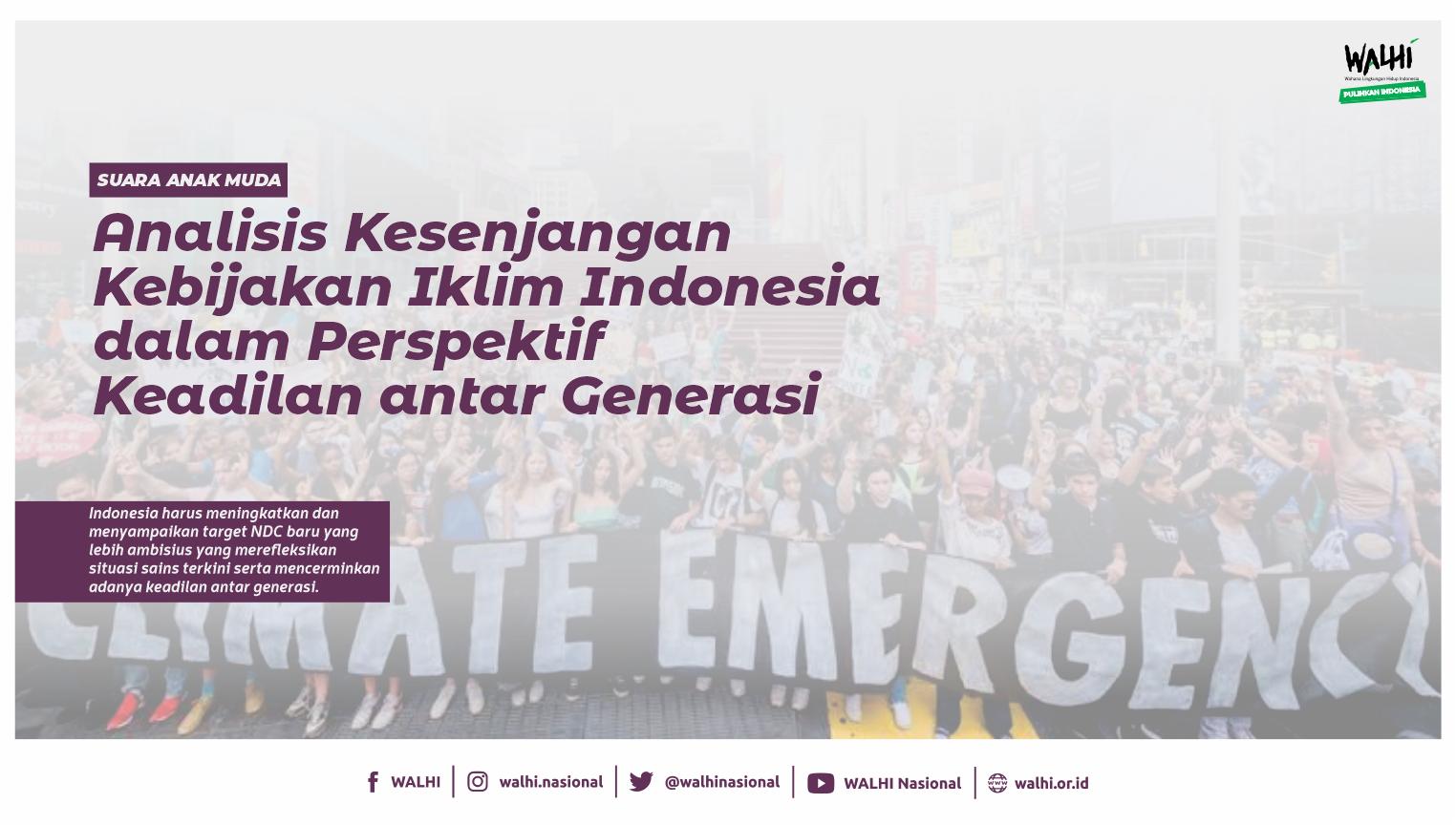 Suara Anak Muda untuk Kebijakan Iklim Indonesia