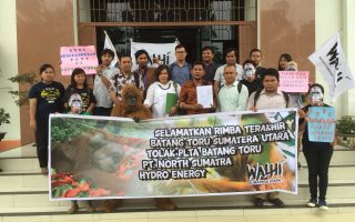 WALHI together with 36 lawyers challenges the environmental permits of the Batang Toru hydroelectric project